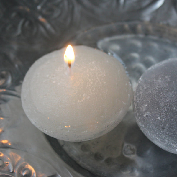Little Floating Rustic Candles - Greige - Home & Garden - Chiswick, London W4