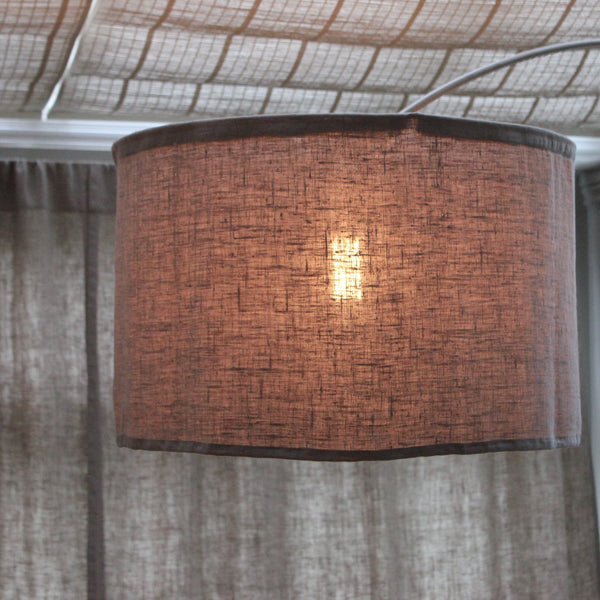 large washed linen lampshade