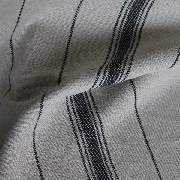 cotton and linen french stripe table runner and placemat