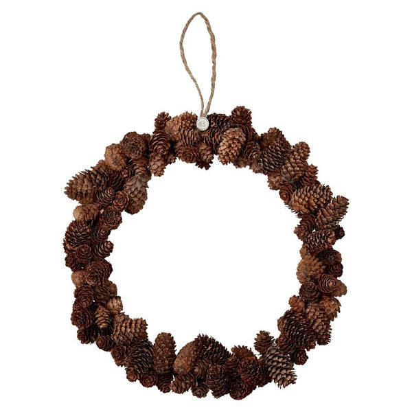 Natural Pinecone Wreath - Greige - Home & Garden - Chiswick, London W4
