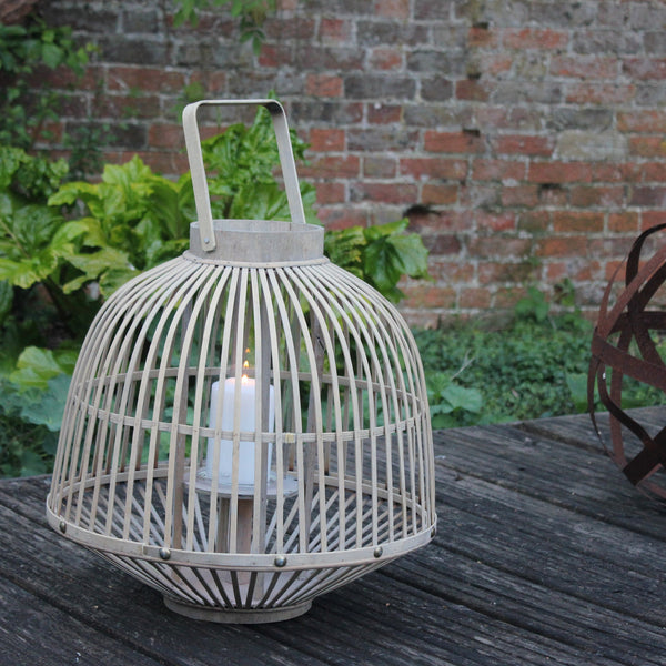 Toulouse Wooden Lantern - Two Sizes - Greige - Home & Garden - Chiswick, London W4
