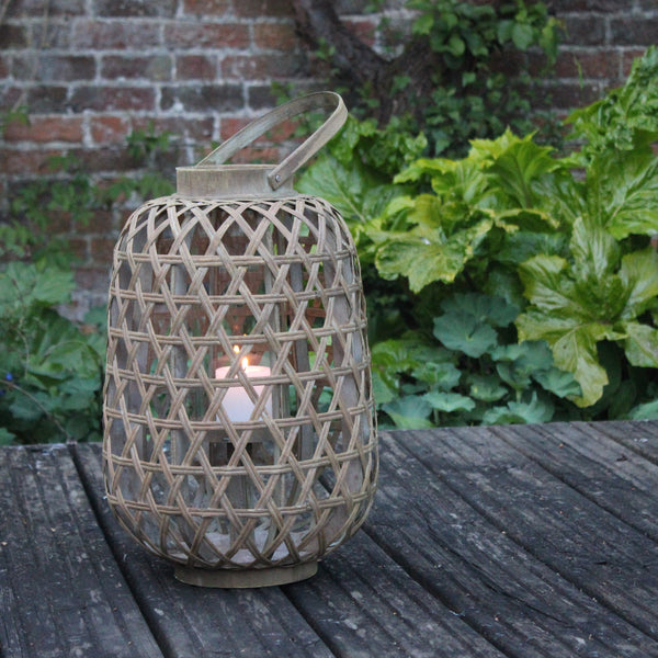 Annecy Wooden Lantern - Two Shapes - Greige - Home & Garden - Chiswick, London W4