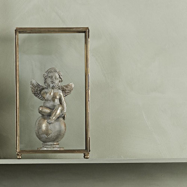 Decorative Antiqued Light Gold Angel - Greige - Home & Garden - Chiswick, London W4