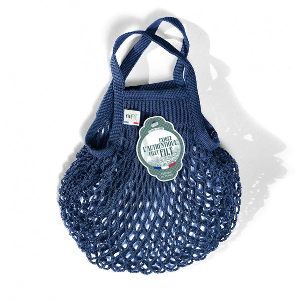 Filt Cotton Net Shopping Bag Ink Blue Mini
