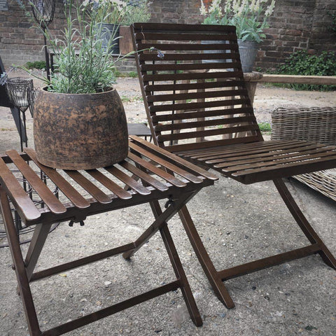 Iron Outdoor Lounger - Greige - Home & Garden - Chiswick, London W4