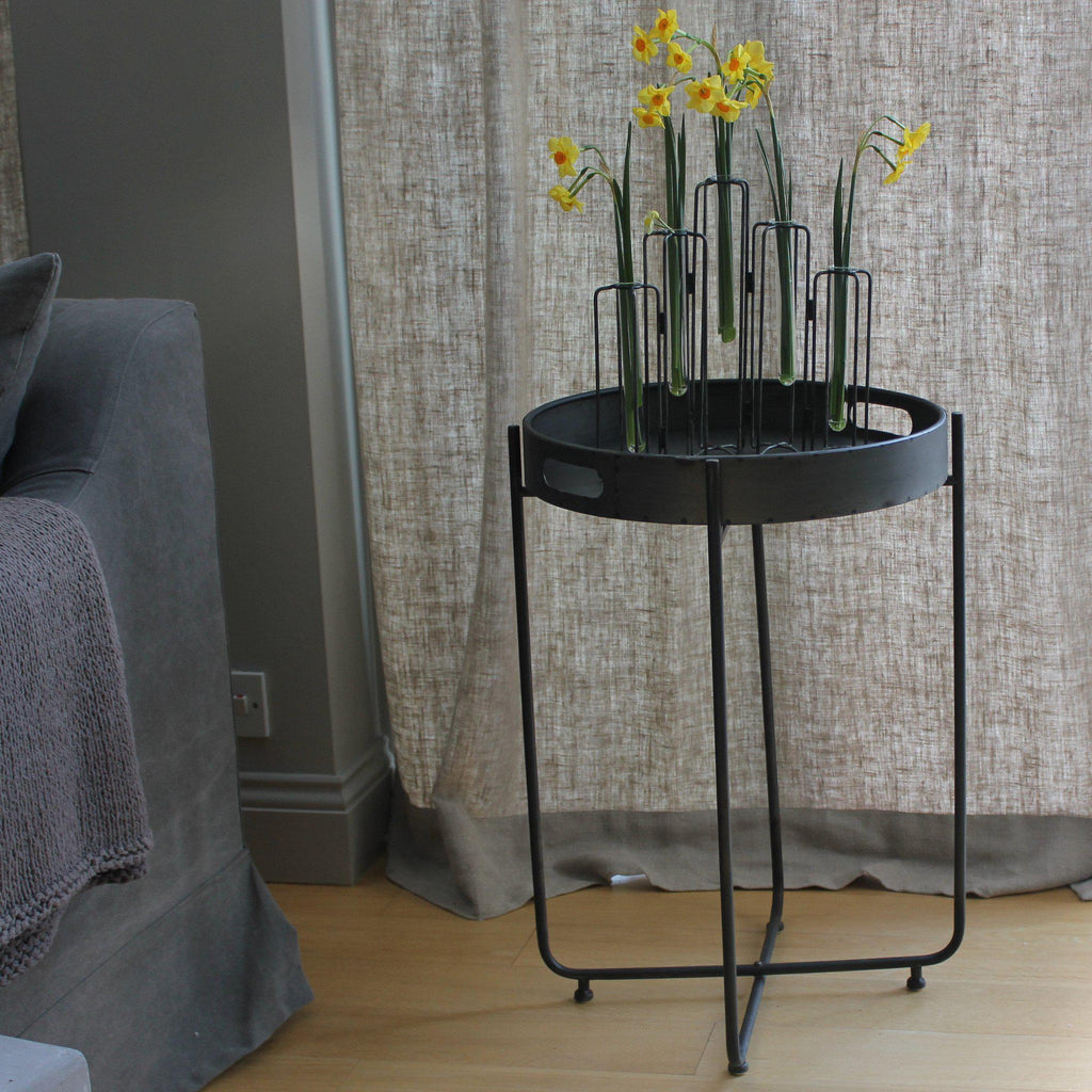 Round Tray Table With Folding Base ...