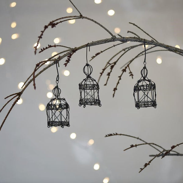 Wire Birdcage Hanging Decorations - Greige - Home & Garden - Chiswick, London W4