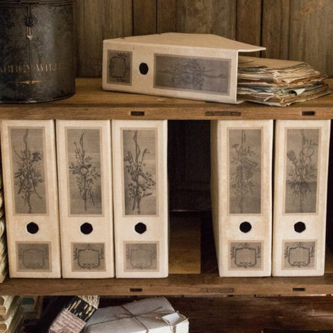 antiqued french garden box files