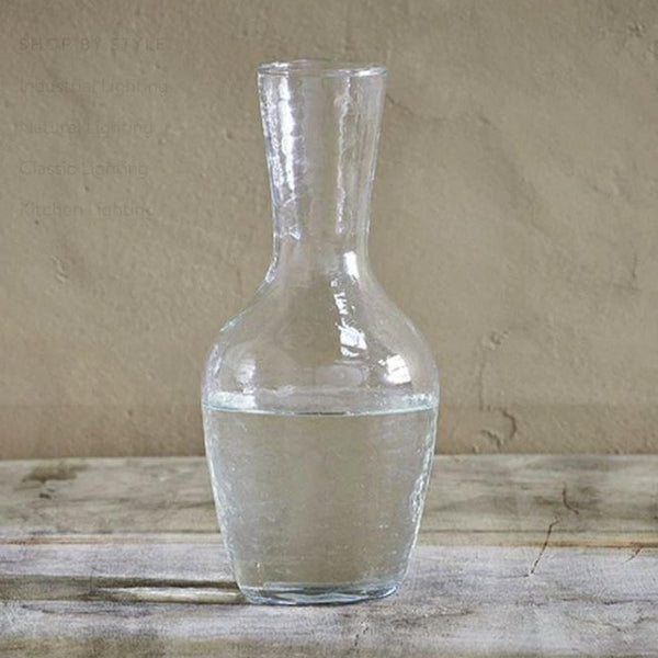hammered recycled glass carafe or jug