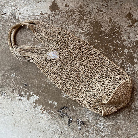 Natural Jute Macrame String Bag