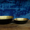 solid brass bowl with black hammered underside
