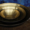 hand hammered brass bowl with black finish