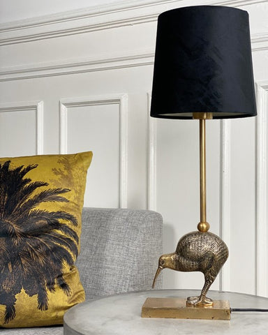 Antique Brass Kiwi Bird Table Lamp - Greige - Home & Garden - Chiswick, London W4