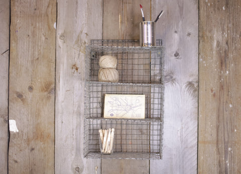 Locker Room Shelf Rack - Two Sizes - Greige - Home & Garden - Chiswick, London W4