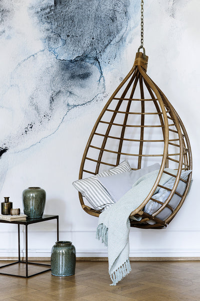 Hanging Egg Chair by Broste Copenhagen - Greige - Home & Garden - Chiswick, London W4