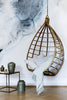 Rattan Hanging Chair Egg Shaped Broste Copenhagen Lot