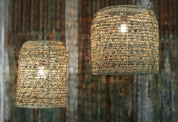 Large Rattan Lampshade - Two Sizes - Greige - Home & Garden - Chiswick, London W4