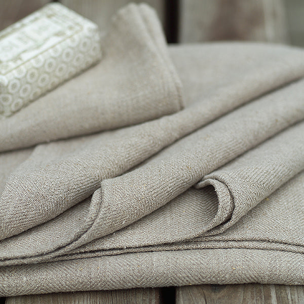 Two Linen Guest Towels/Wash Cloths (30x30cm) - Greige - Home & Garden - Chiswick, London W4