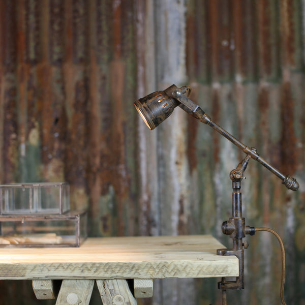 Antiqued Rust Clamp Light - Two Styles - Greige - Home & Garden - Chiswick, London W4