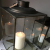Antiqued Metal Morzine Lantern - Two Sizes - Greige - Home & Garden - Chiswick, London W4