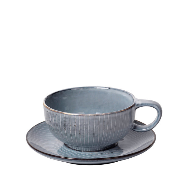 Nordic Sea Large Cup and Saucer by Broste Copenhagen - Greige - Home & Garden - Chiswick, London W4