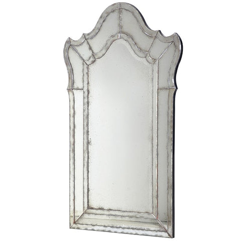 Large Antiqued Venetian Glass Mirror