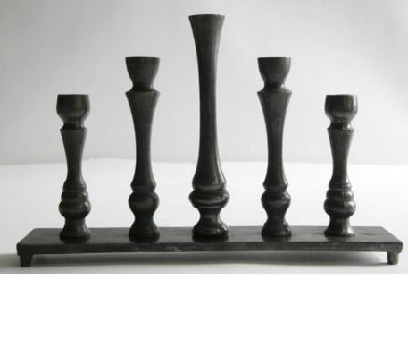 5 Candlesticks in a Row - Greige - Home & Garden - Chiswick, London W4