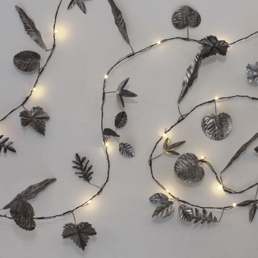 low priced e403d 98a7c Leaves Garland Fairy Lights - Silver