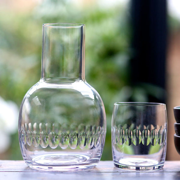 Vintage Style Carafe and Glass Set - Four Styles - Greige - Home & Garden - Chiswick, London W4