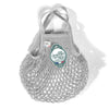 French Cotton String Shopping Market Bag Light Grey PluieMini