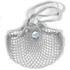 Filt French String Net Tote Market Bag Classic Light Grey Long Handled