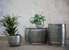 Etched Aluminium Drum Coffee Table and Side Table - Greige - Home & Garden - Chiswick, London W4