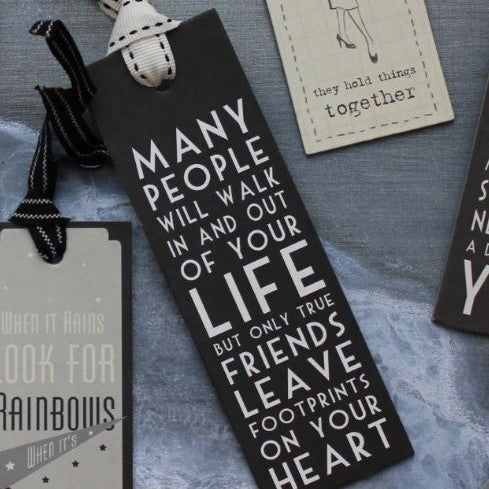 Say it with Words - Sentiment Bookmarks - Greige - Home & Garden - Chiswick, London W4
