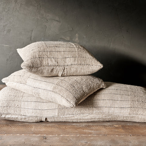 Slubby Handwoven Linen Cushion - Four Sizes