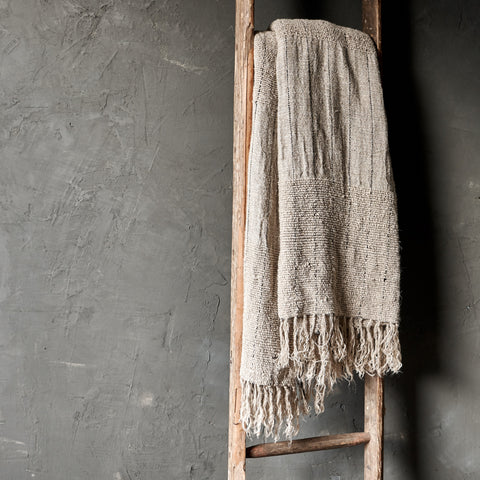 Slubby Handwoven Linen Throw