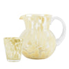 Retro style glass jug and tumbler with ochre spots