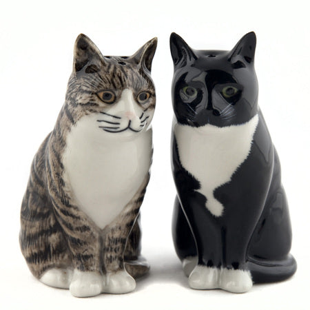 Millie and Julius - Moggy Salt & Pepper Pots by Quail Ceramics