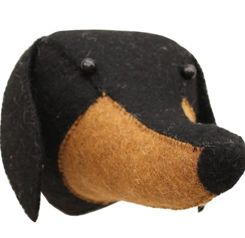 Mini Felt Daschund Head Fiona Walker