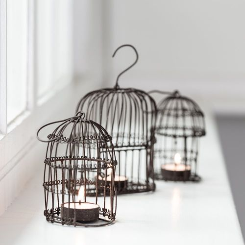 Mini Birdcage Tealight Holder - Greige - Home & Garden - Chiswick, London W4