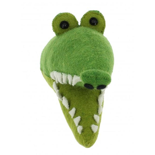 Felt Mini Crocodile Head fiona Walker