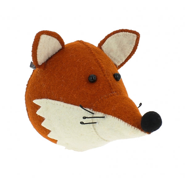 Mini Fox Head with Ruff by Fiona Walker, England - Greige - Home & Garden - Chiswick, London W4