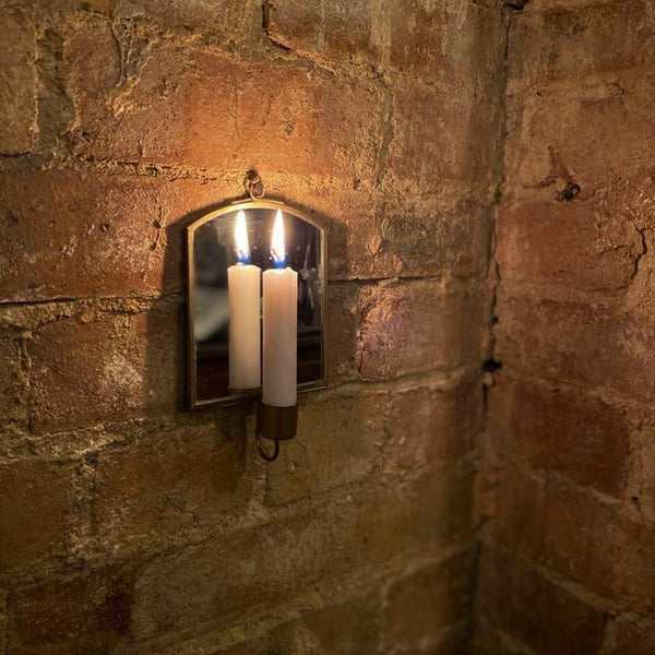 Mirrored Wall Candle Holder - Greige - Home & Garden - Chiswick, London W4
