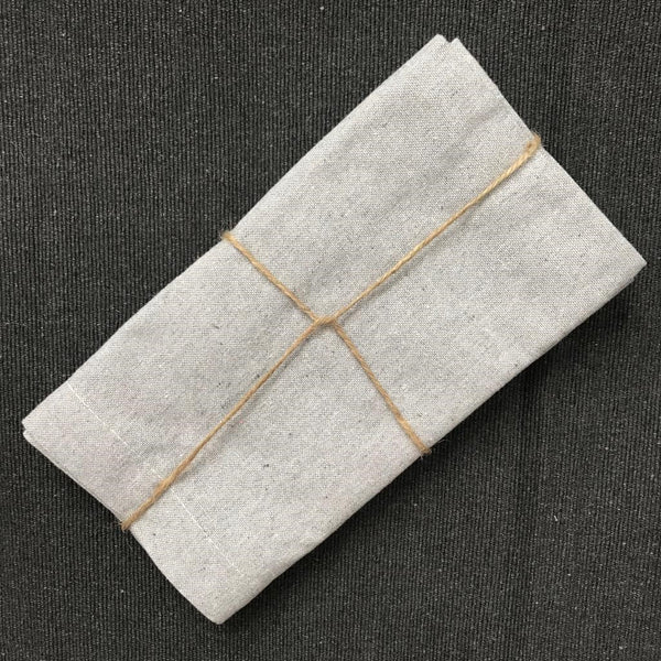Recycled Cotton Tableware - Set of Two Napkins - Greige - Home & Garden - Chiswick, London W4