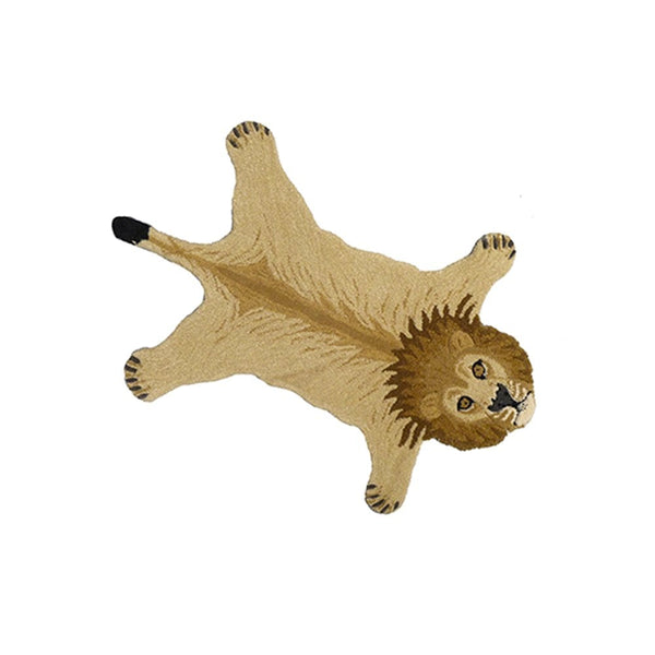 Moody Lion Rug - Tapis Amis Collection from Doing Goods - Greige - Home & Garden - Chiswick, London W4