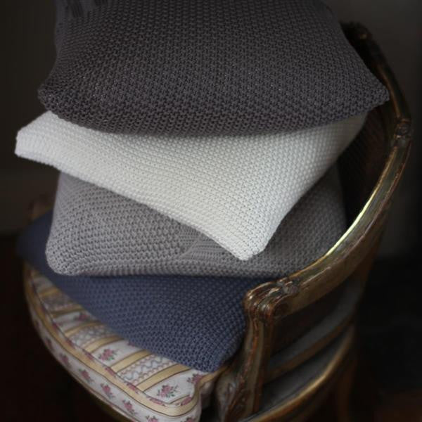 Moss Stitch Cotton Cushion Cover - Greige - Home & Garden - Chiswick, London W4