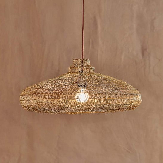 striking organic oval shape wire lampshade