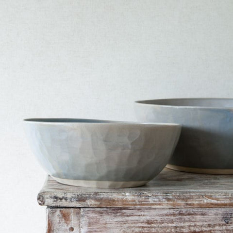 Ceramic Salad or Serving Bowl - Organic Shape - Mushroom Colour - Greige - Home & Garden - Chiswick, London W4