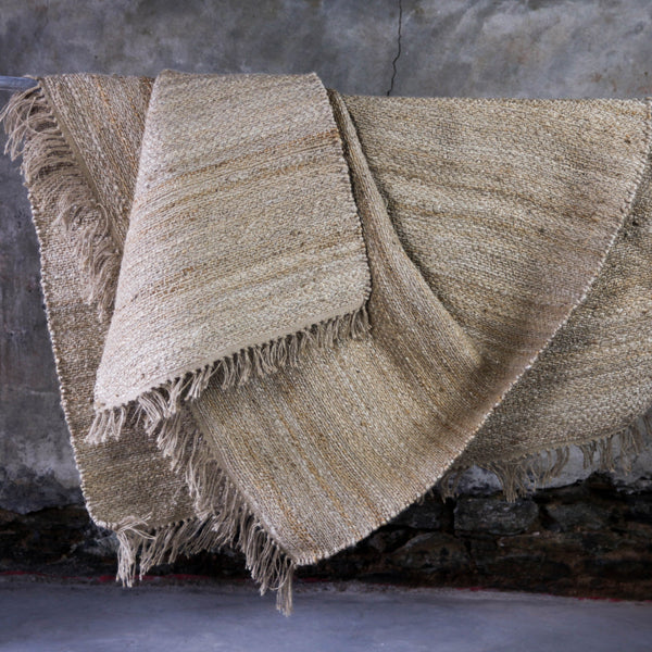 handwoven natural hemp rug eco-friendly