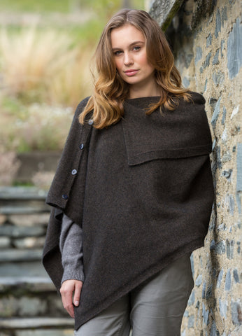 Noble Wilde Off Shoulder Cape Poncho - Greige - Home & Garden - Chiswick, London W4
