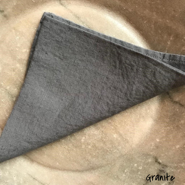 Granite Washed Linen 100% Napkin